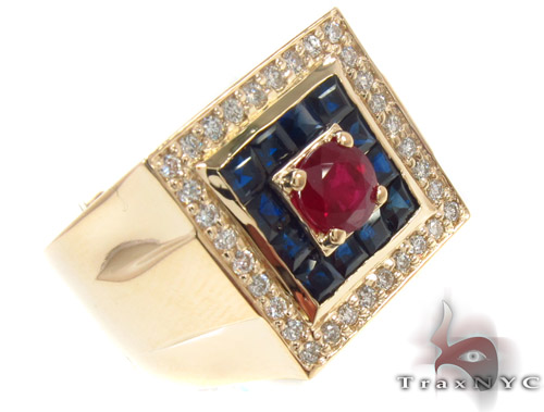 Gemstone Pave Diamond Ring 33836 Stone