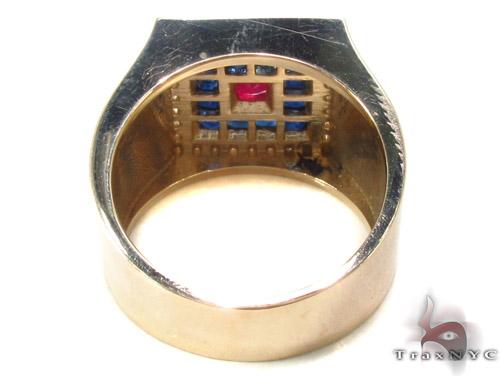 Gemstone Pave Diamond Ring 33836 Stone