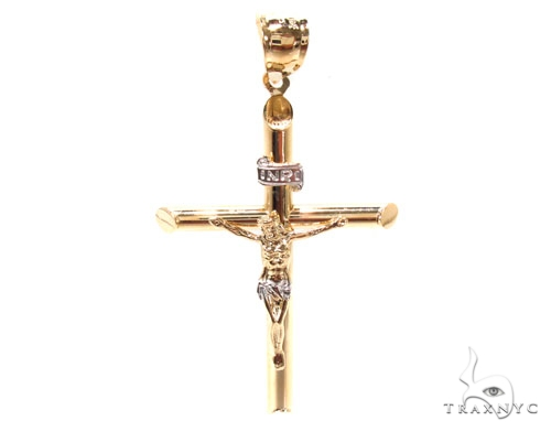 Gold Over Silver Cross 36502 Silver