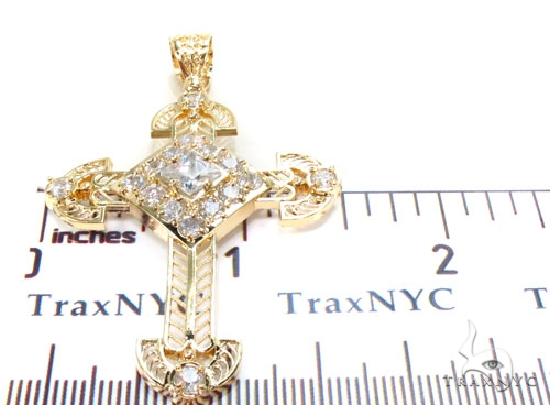Gold Over Silver Cross 36481 Silver