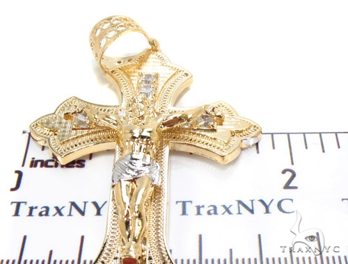 Gold Over Silver Cross 36489 Silver