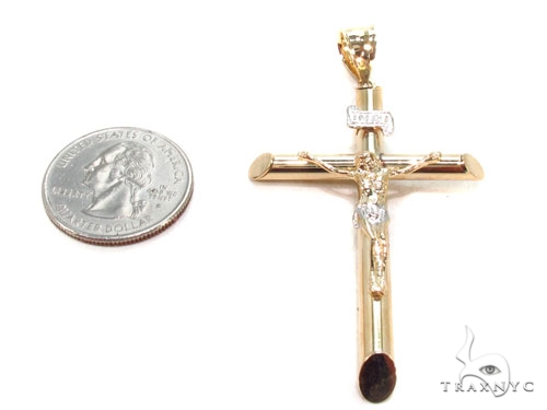 Gold Over Silver Cross 36501 Silver