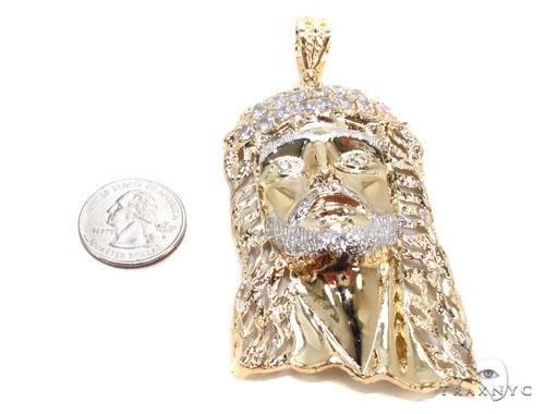 Gold Over Silver Jesus Pendant Metal