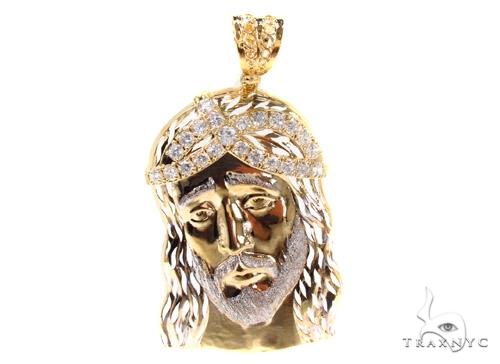 Gold Over Silver Jesus Pendant 36442 Metal