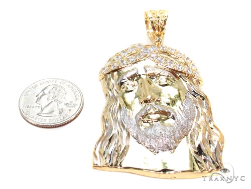 Gold Over Silver Jesus Pendant 36442 Metal