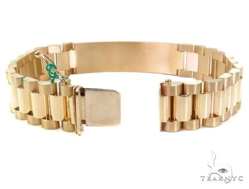 Gold Plate 6 Mens Bracelet-40121 Gold