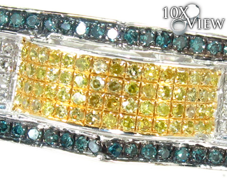 Grant Silver with Triple Color Diamond Ring Metal