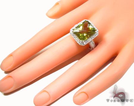 Green Quartz Diamond Ring 31545 Anniversary/Fashion