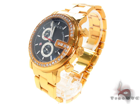 Gucci G-Chrono Yellow PVD Diamond Watch Gucci