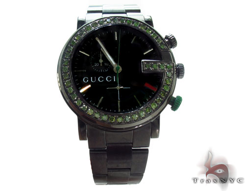 Gucci Green Diamond 101M Watch Gucci