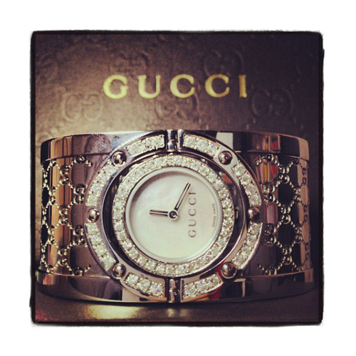 Gucci Ladies Diamond Twirl Watch YA112413 Gucci