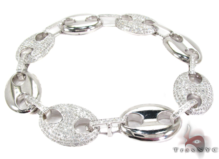 Gucci Link White Gold Diamond Bracelet Diamond