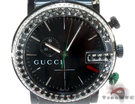 Gucci Mens Chrono Diamond Watch YA101331 Gucci