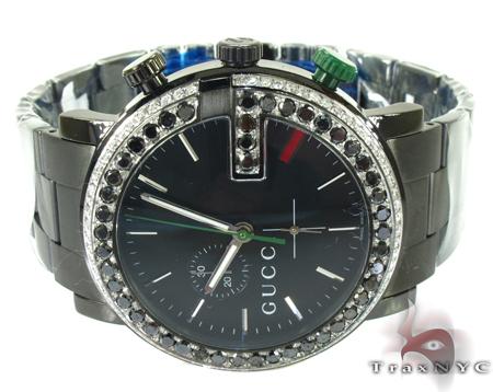 Gucci Mens Chrono Diamond Watch YA101331 Gucci