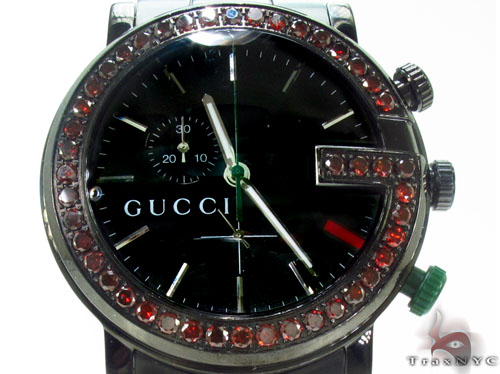 1001ba29059 Gucci Red Diamond 101M Watch Mens Gucci Stainless Steel