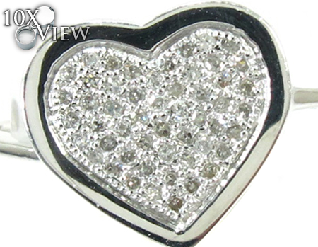 Heart Diamond Ring 28145 Anniversary/Fashion
