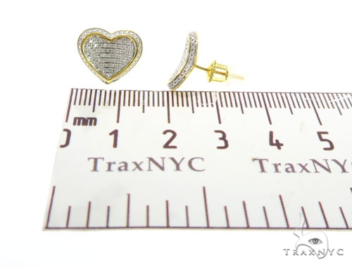 Heart Diamond Silver Earrings 44045 Metal