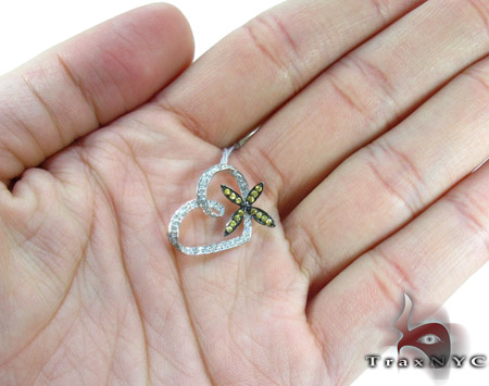Heart Flower Yellow Sapphire & Diamond Pendant Stone