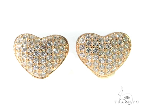 Heart Silver Earrings 49015 Metal