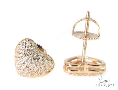 Heart Silver Earrings 49015 Metal