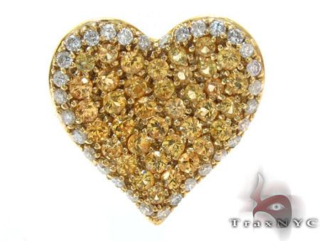 Heart Yellow Sapphire & Diamond Pendant Stone