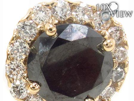 Heiress Black Diamond Earrings 2 Stone