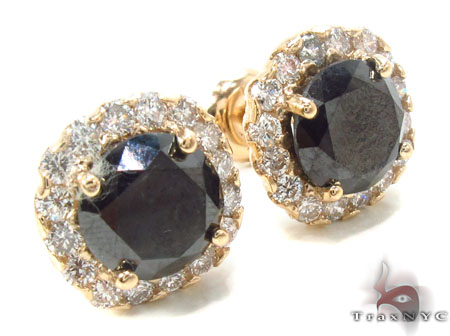 Heiress Black Diamond Earrings 2 Stone