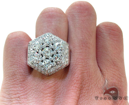 Hexagon Crown Ring Stone