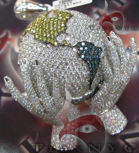 Hip Hop Globe Pendant Metal