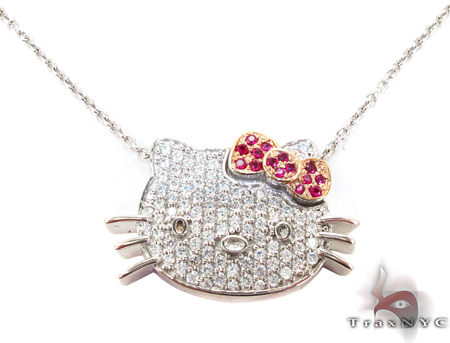 Hello Kitty Ruby Diamond Pendant Stone