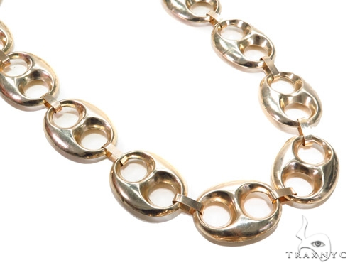 Hollow Gucci Gold Chain 40 Inches 32mm 113.2 Grams 43136 Gold