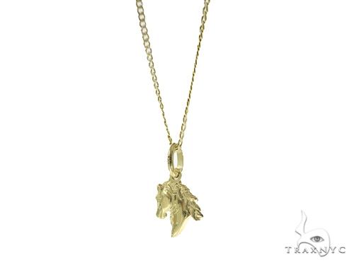 Horse Gold Pendant n Set 44816 Gold