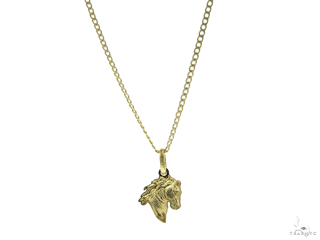Horse Gold Pendant n Set 44816 Gold