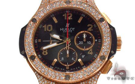 Hublot Rose Color Stainless Steel Diamond Watch Hublot