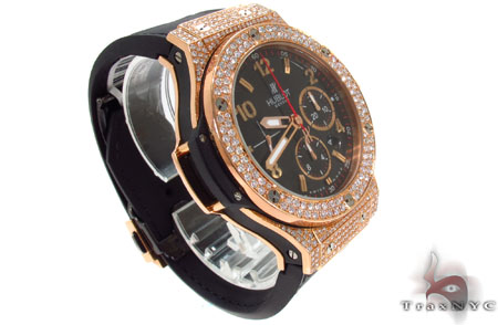 Hublot Rose Color Stainless Steel Diamond Watch Hublot