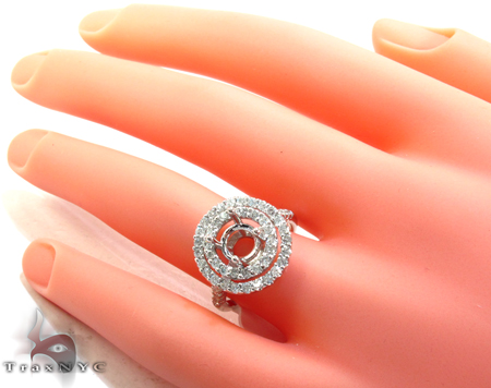 Ice Fountain Semi Mount Ring Engagement