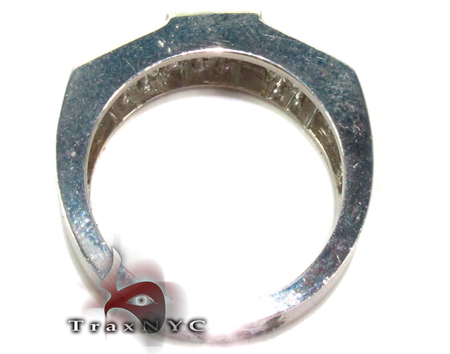Mens Tri-Cuboid Iced Jewelry Ring Stone