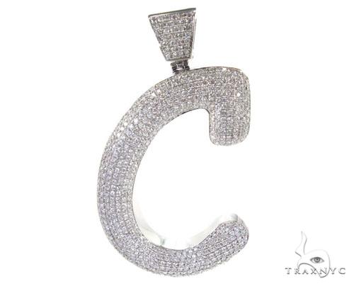 C Letter In Diamond Iced Letter C P...