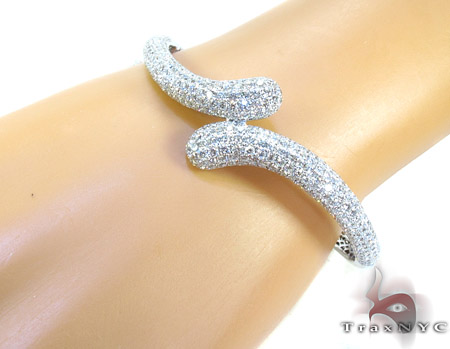 Illusion Diamond Bangle Bracelet Diamond
