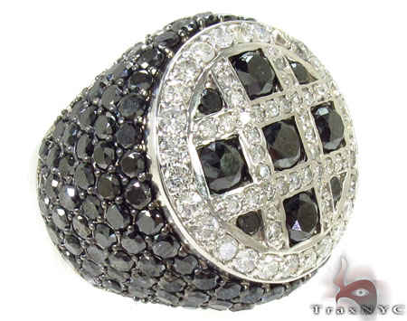 Immortality Black Diamond Ring Mens Black Diamond Rings