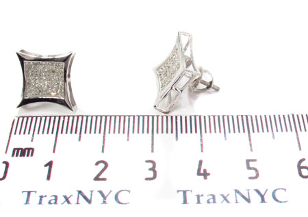 Invisible Diamond 14K White Gold Earrings 31665 Stone