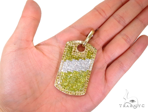 Invisible Diamond Dog Tag 40713 Style