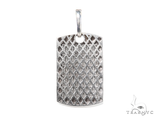 Invisible Diamond Dog Tag Pendant 44094 Metal