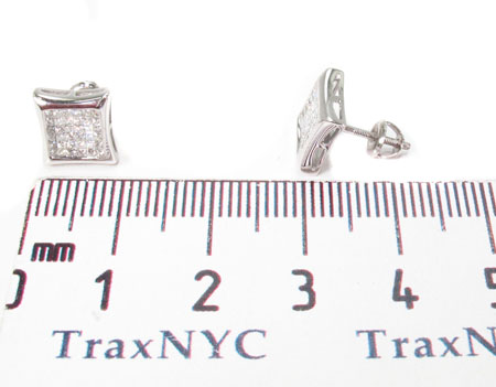 Invisible Diamond Earrings 28694 Stone