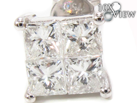 Invisible Diamond Earrings 32378 Stone
