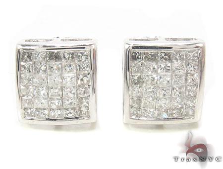 Invisible Diamond Earrings 33713 Stone
