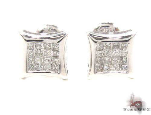 Invisible Diamond Earrings 35247 Stone