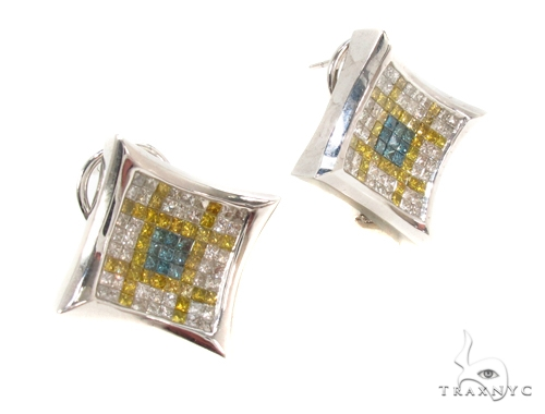 Invisible Diamond Earrings 35314 Stone
