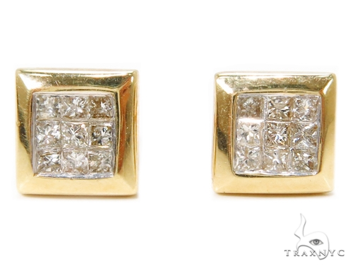Invisible Diamond Earrings 40384 Stone