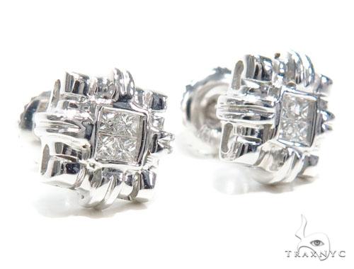 Invisible Diamond Earrings 40951 Stone
